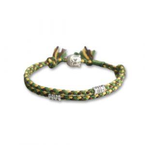 Bracelet bouddhiste tressé – vert