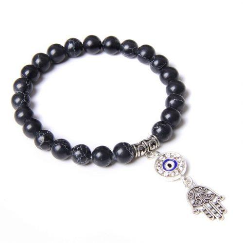 Bracelet bouddhiste noir