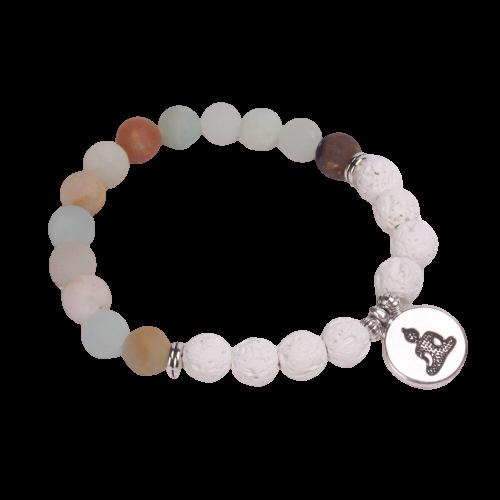 Bracelet bouddhiste en perles d'amazonite