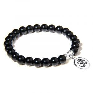 Bracelet bouddhiste Om̐ noir