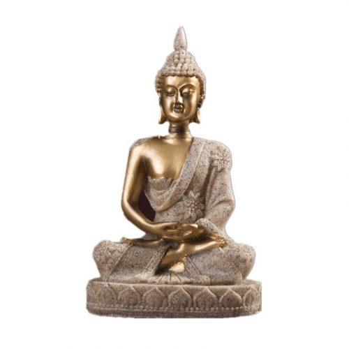 Statue Bouddha en grès