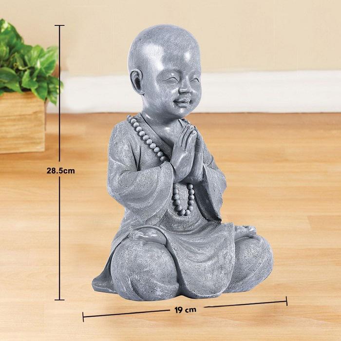 Statue bouddha porte bonheur