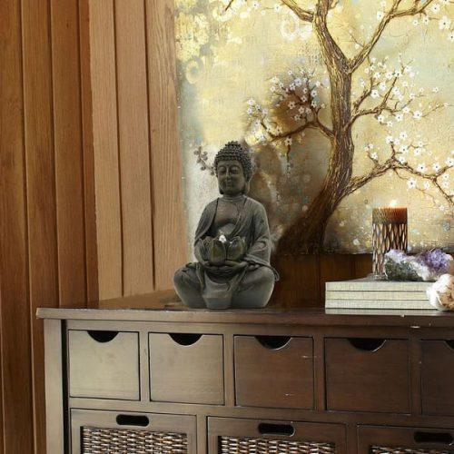 Statue bouddha porte bougie