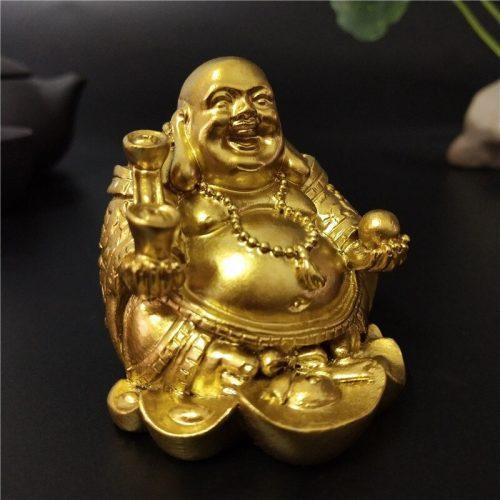 Statue bouddha rieur extérieur