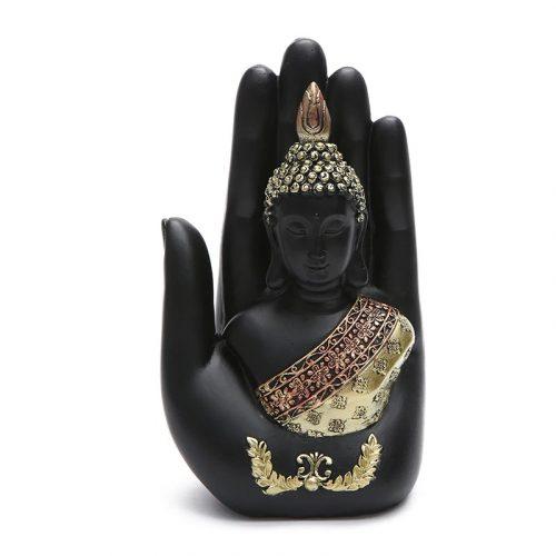 Statue bouddha noir