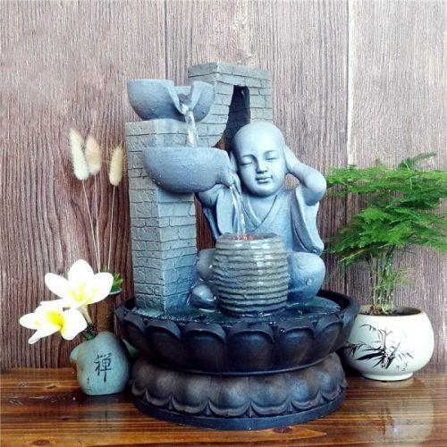 Fontaine à eau Bouddha sagesse