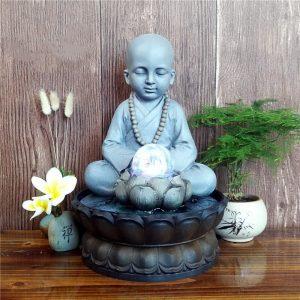 Fontaine Bouddha boule de cristal
