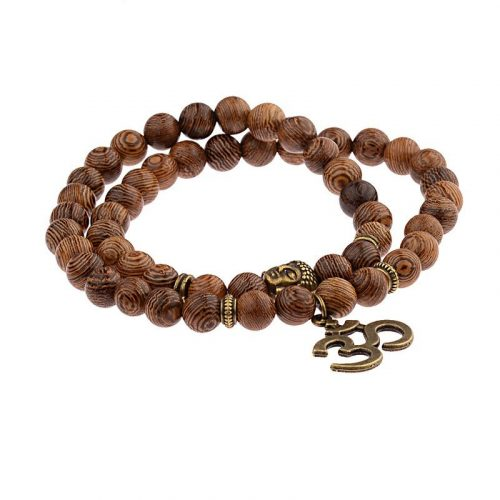 Bracelet bouddhiste bois