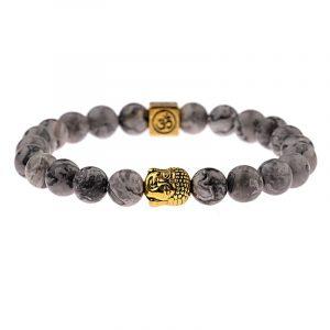 Bracelet labradorite Bouddha
