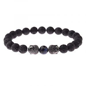 Bracelet bouddhiste pierre de lave
