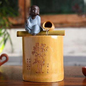 Fontaine Bouddha en bambou