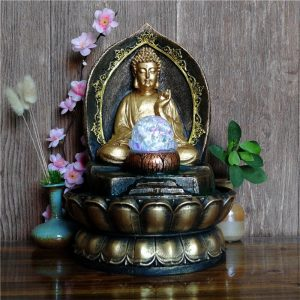 Fontaine Bouddha lumineuse