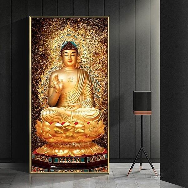 Tableau Bouddha or