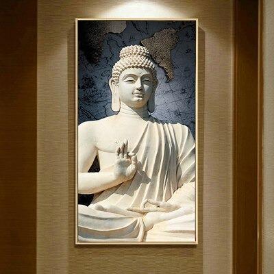 Tableau Bouddha blanc