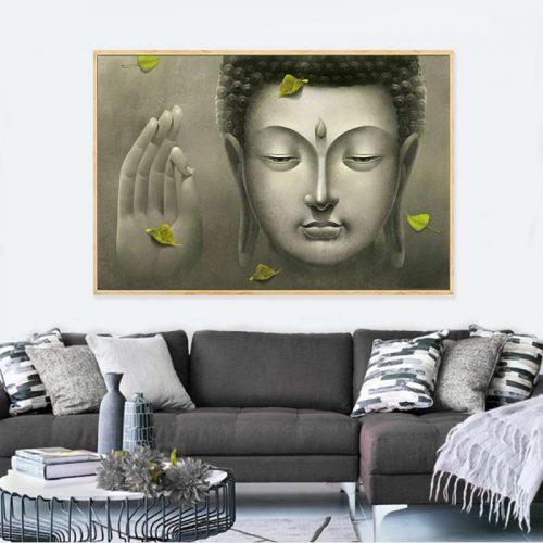 Tableau Bouddha Abhaya Mudrā