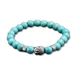 Bracelet bouddha bleu