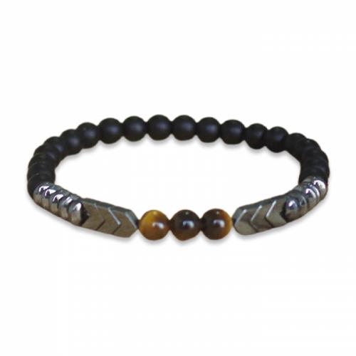 Bracelet bouddhiste homme œil de tigre