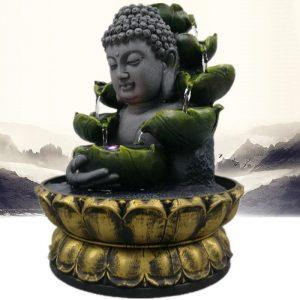Fontaine tête de Bouddha intérieur