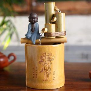 Fontaine bambou Bouddha
