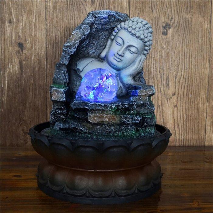 Fontaine visage de Bouddha