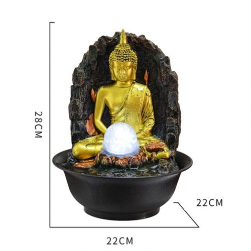 Fontaine Bouddha avec lumière