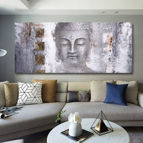Tableau Bouddha grand format