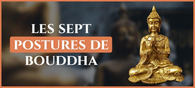 Découvrez les sept postures de Bouddha