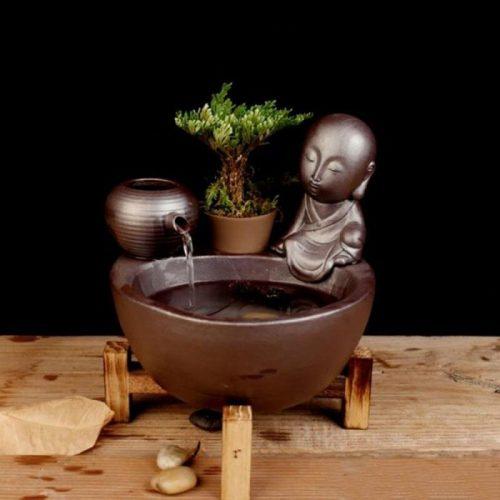 Fontaine à eau jardin Bouddha