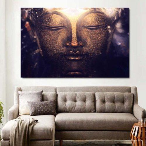 Toile Bouddha zen