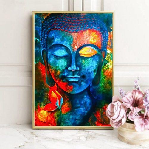 Tableau Bouddha couleur