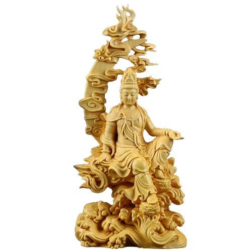Statue Bouddha bois ancien