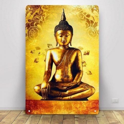 Tableau Bouddha doré