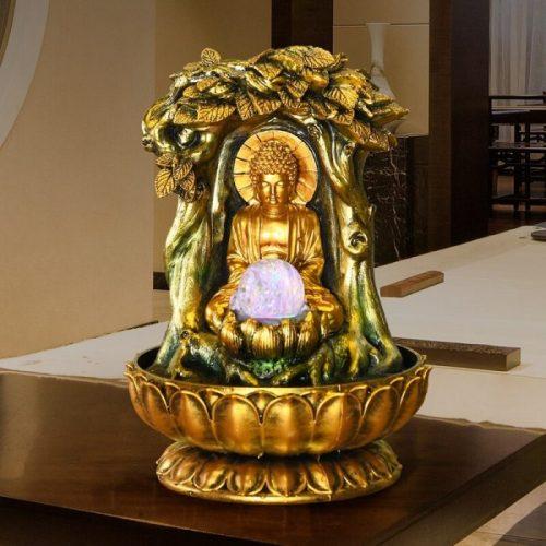 Fontaine Bouddha doré
