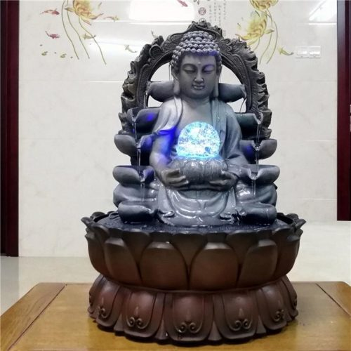 Fontaine Bouddha boule lumineuse