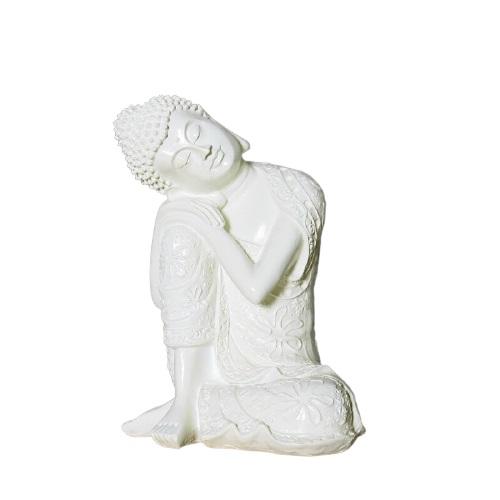 Statue Bouddha blanche