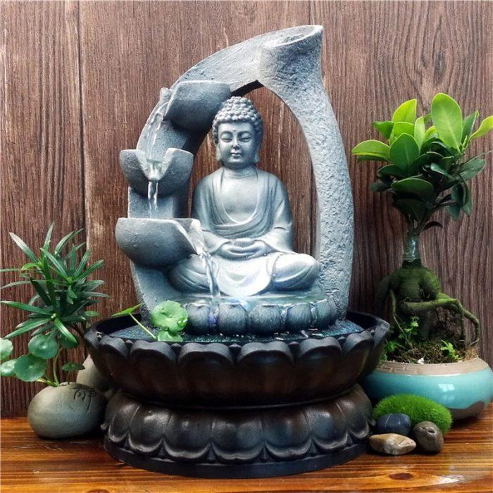 Fontaine Bouddha de jardin