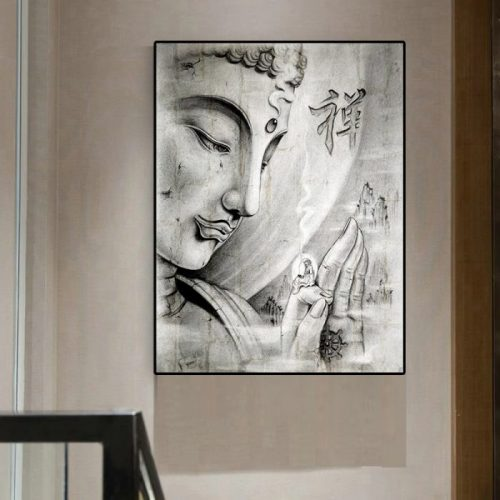 Tableau Bouddha abstrait