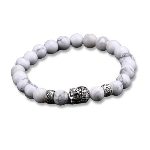 Bracelet bouddha blanc
