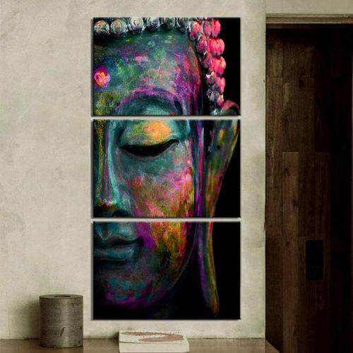 Toile aquarelle Bouddha