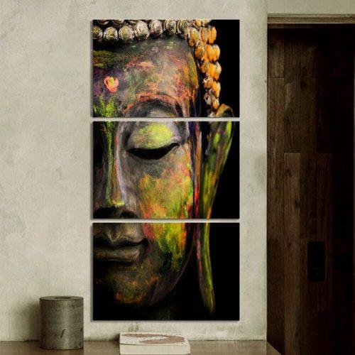 Tableau triptyque Bouddha