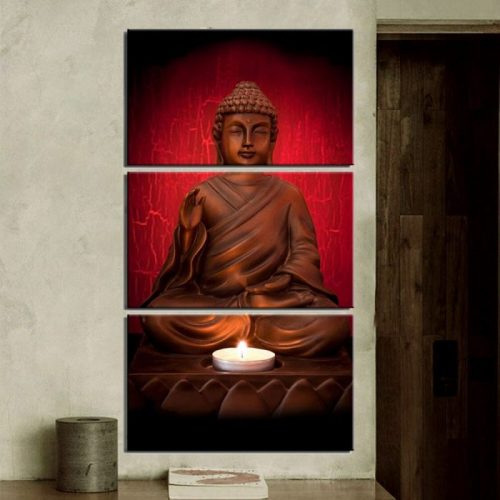 Tableau Bouddha rouge