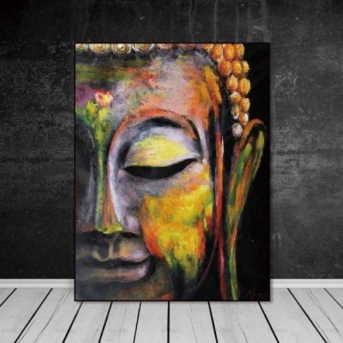 Tableau Bouddha art