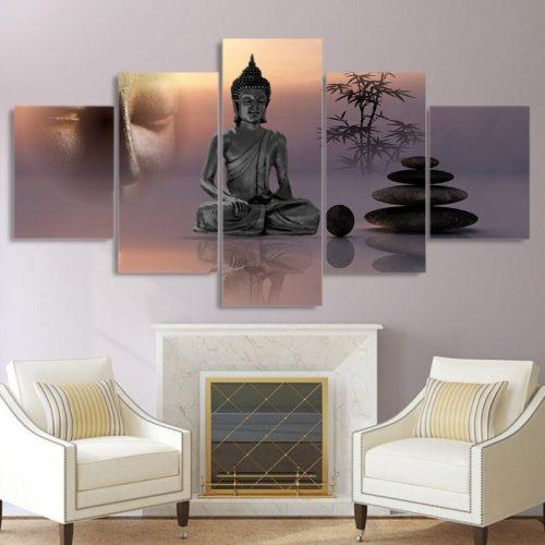 Tableau peinture bouddha zen asiatique