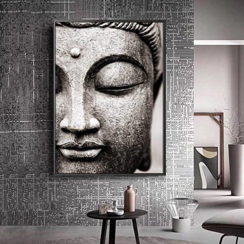 Tableau tête de Bouddha