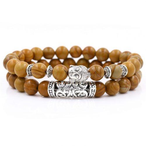 Bracelet bouddhiste marron