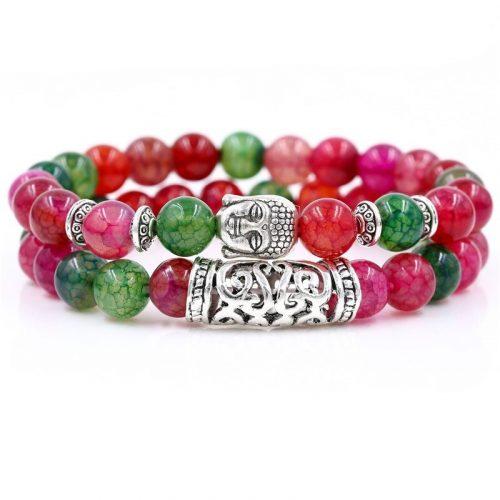 Bracelet bouddhiste rouge et vert