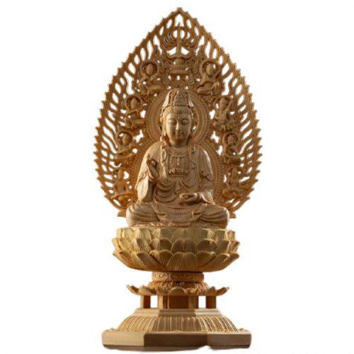 Statue Bouddha bois