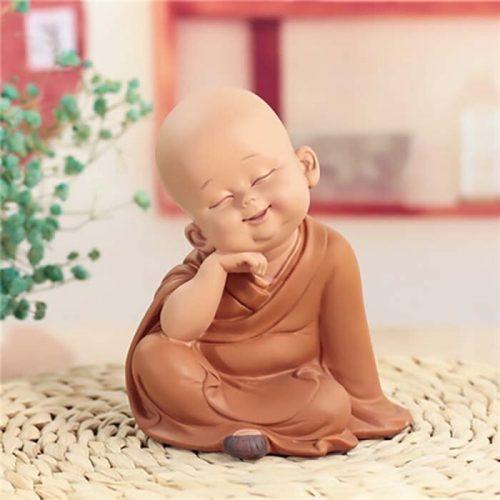 Statue moine Bouddha