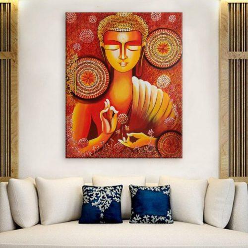 Tableau Bouddha Vitarka