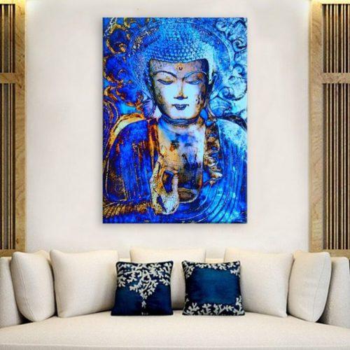 Tableau Bouddha turquoise